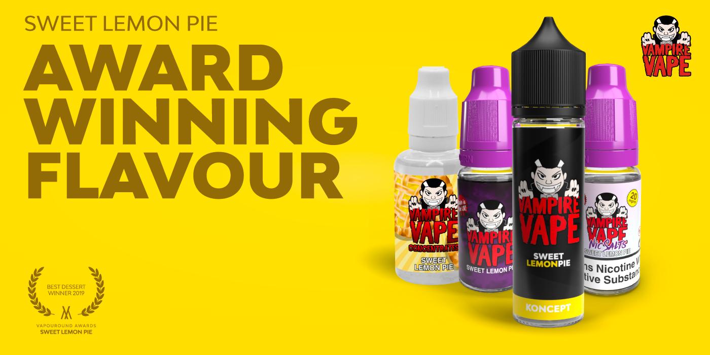 Discover the Vampire Vape Sweet Lemon Pie e-liquid range