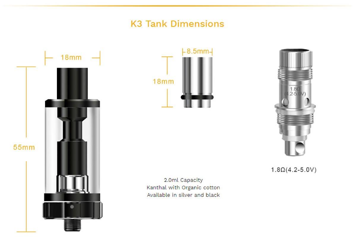 Aspire K3 Quick Start Kit