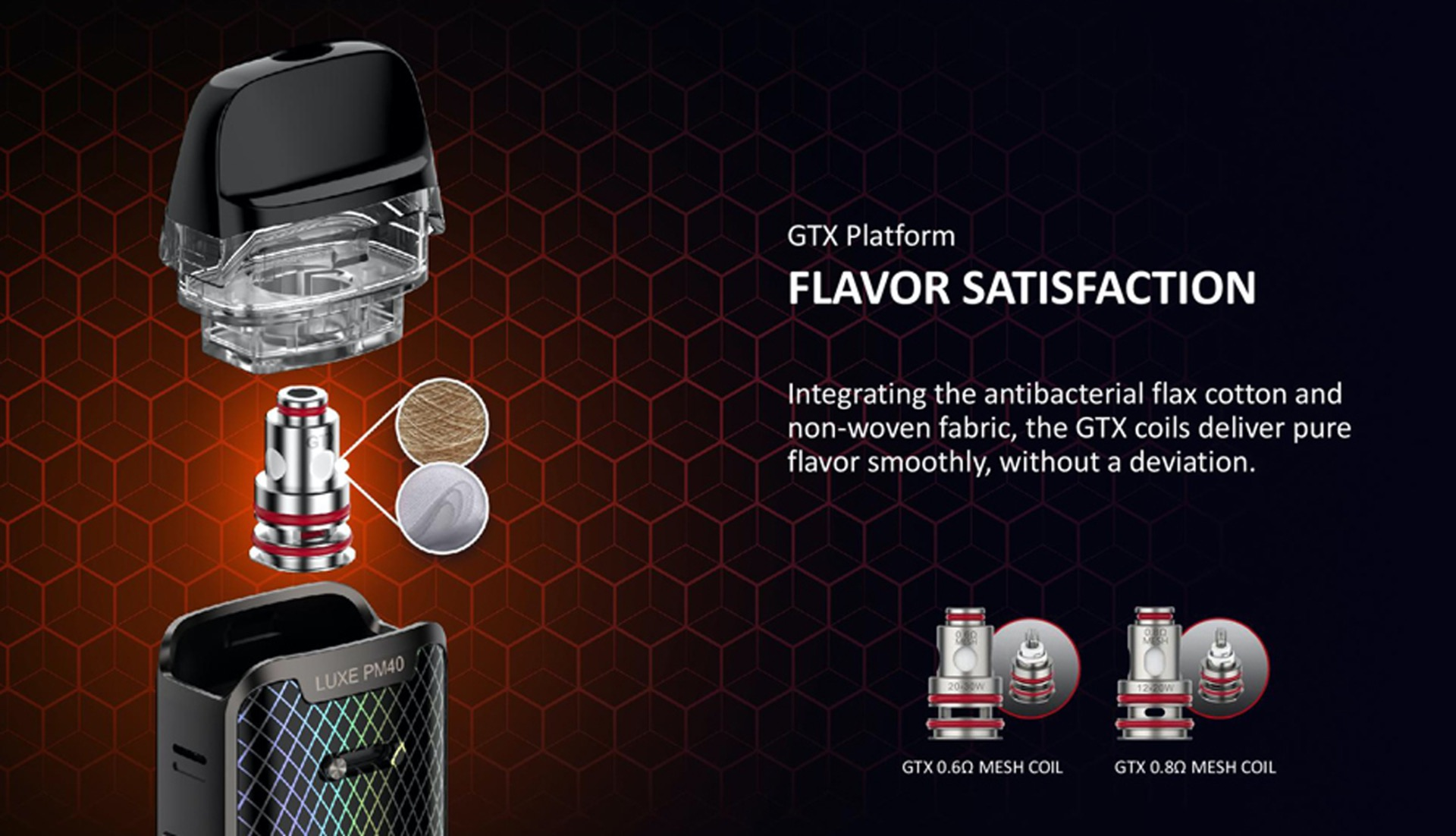 Vaporesso Luxe PM40 flavour satisfaction