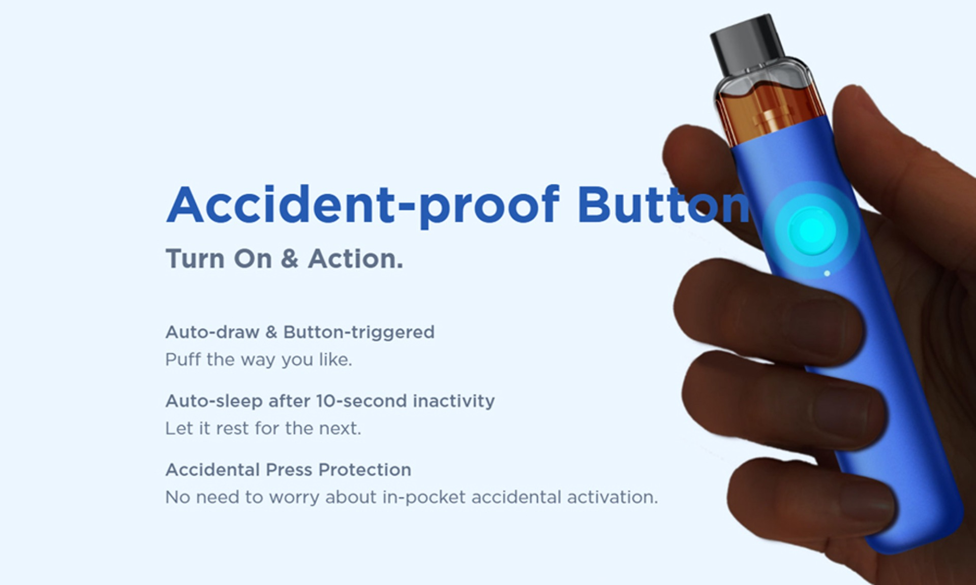 wenax accident proof button