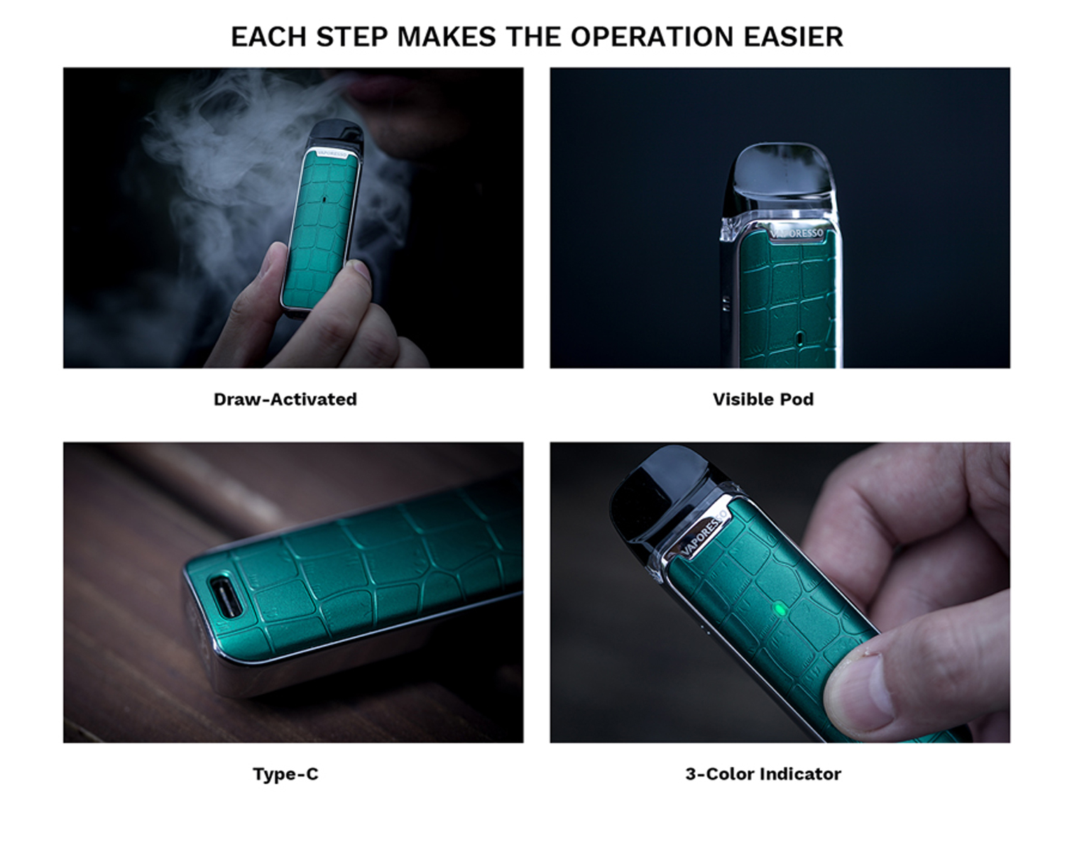 Vaporesso Luxe Q easy operation