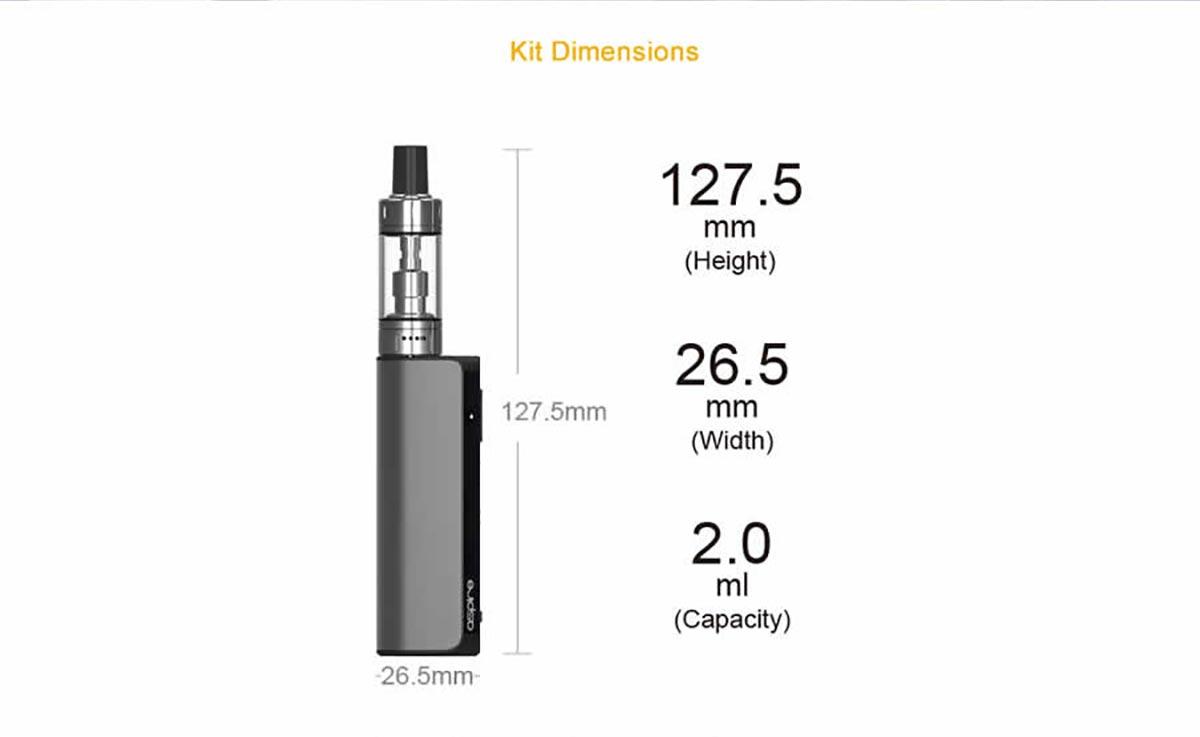 Aspire K-Lite Kit dimensions