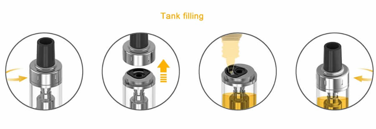 Aspire K-Lite Kit tank filling