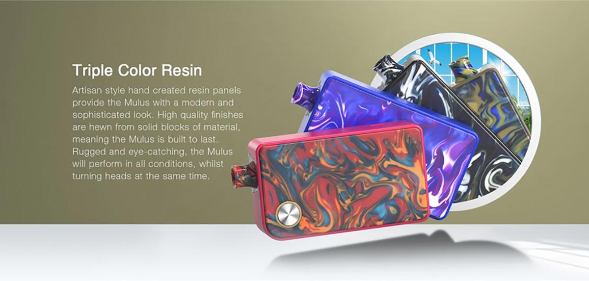 triple colour resin