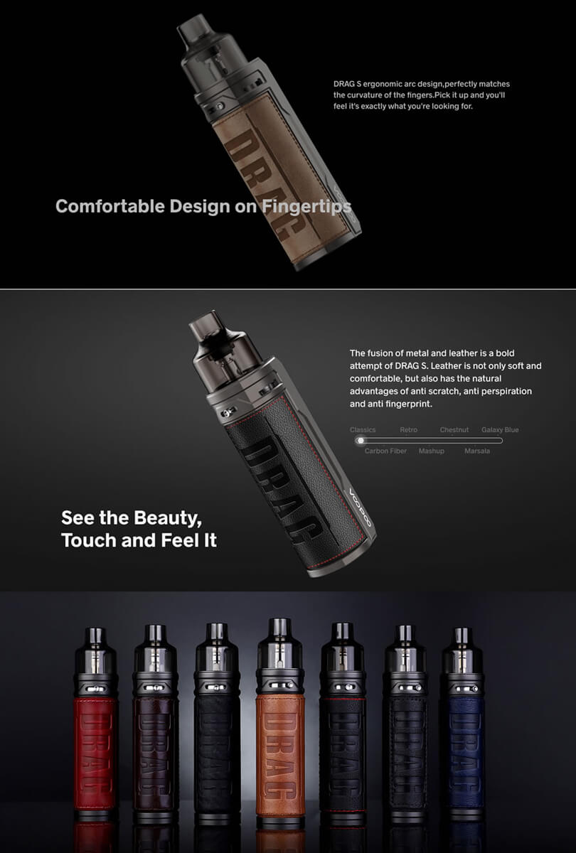 VooPoo Drag S Pod soft touch