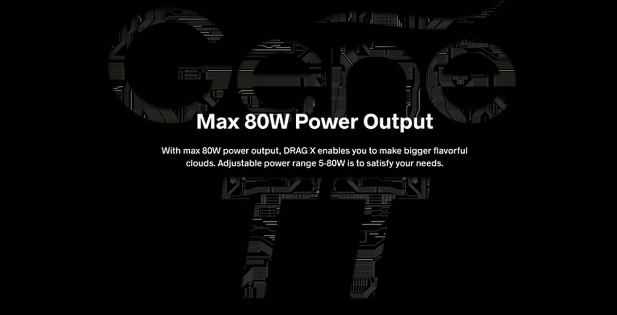 80w output