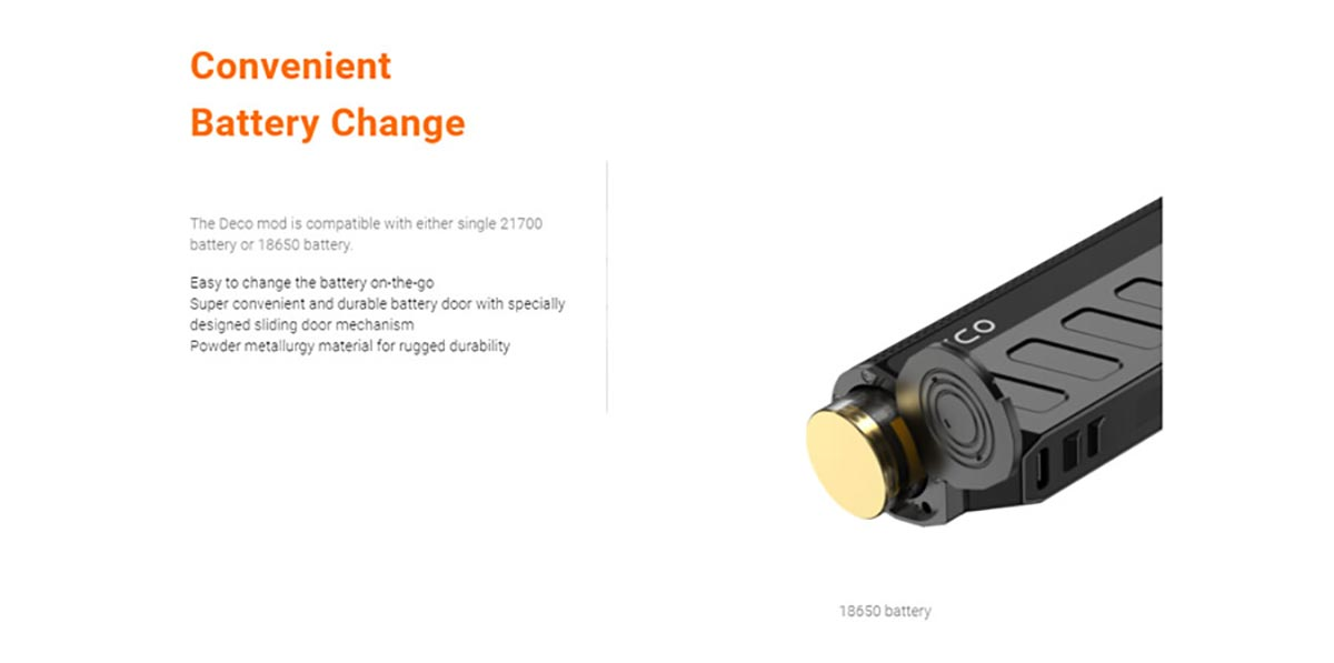 Aspire Deco battery charge