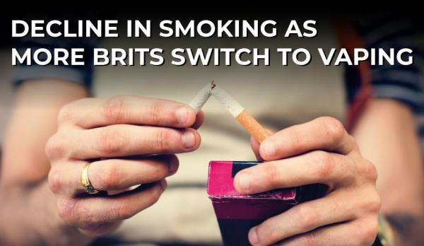 New Report Finds a Decline in Smoking as more Brits Switch to Vaping