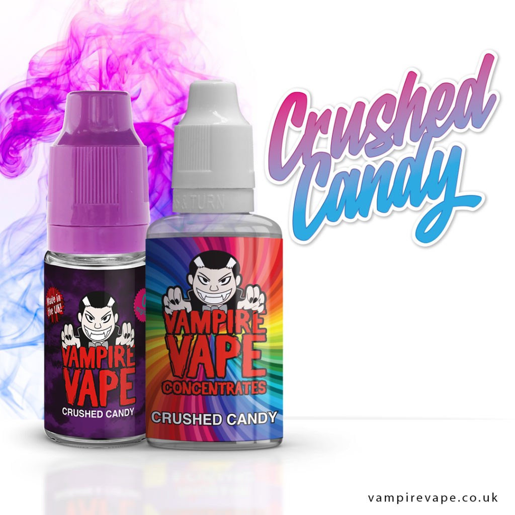 Crushed Candy 10ml e-liquid bottle and 30ml concentrate
